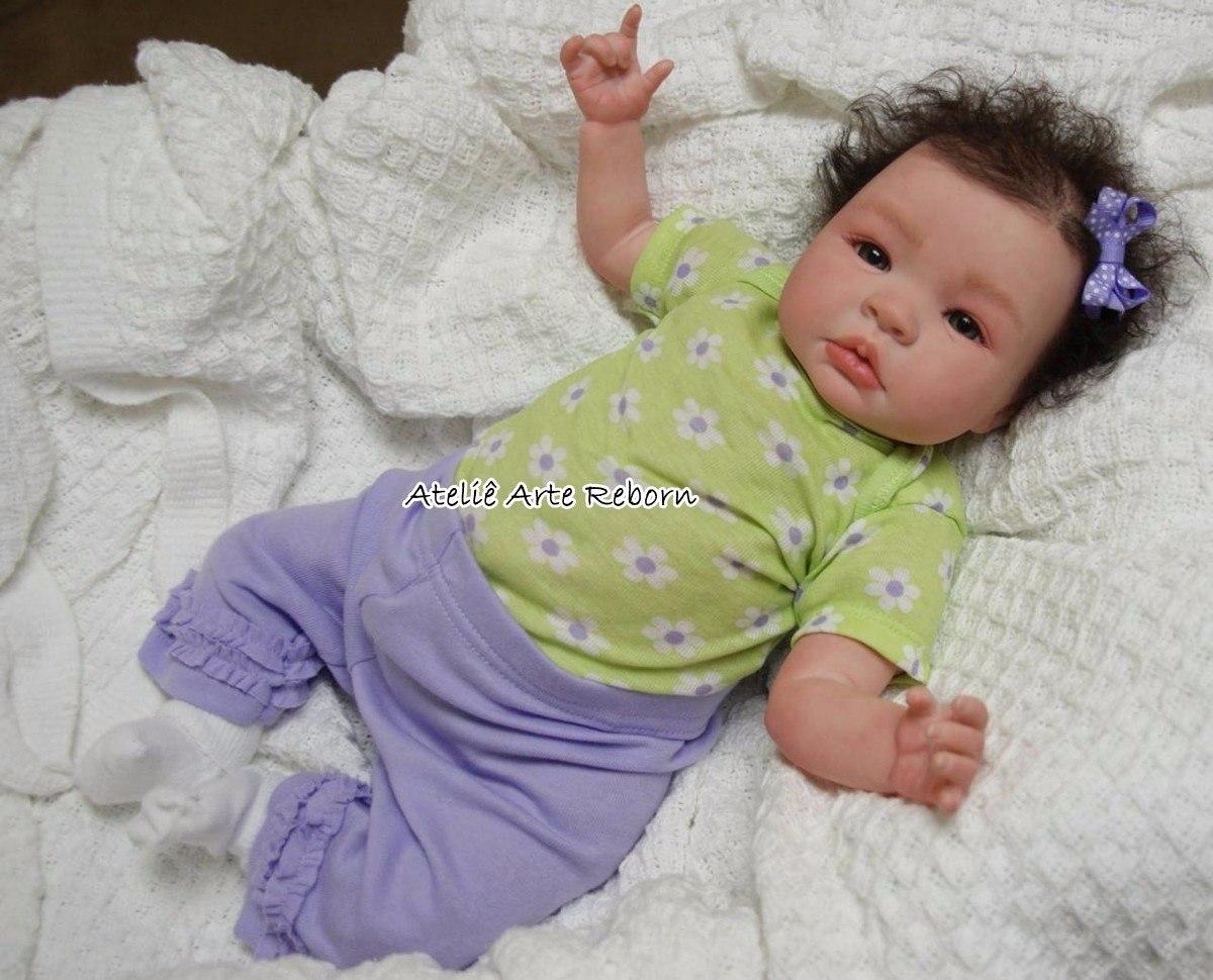 Beb 234 Reborn Linda Cabelo Implantado Real Boneca Reborn