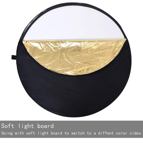 rebotador de luz fotografico 5 en 1 60cm diametro nuevo
