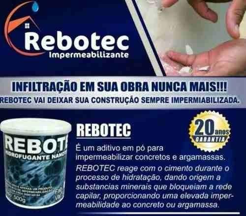 rebotec 20kg hidrofugante nanotecnológico melhor do mercado
