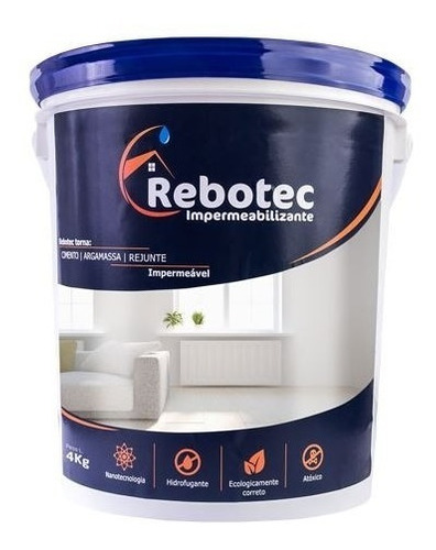 rebotec 4 / 4kg impermeabilizante distribuição sp