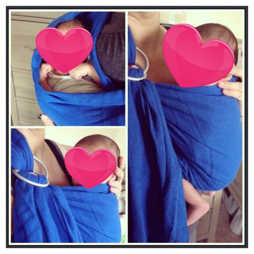 rebozo de argollas para cargar bebe