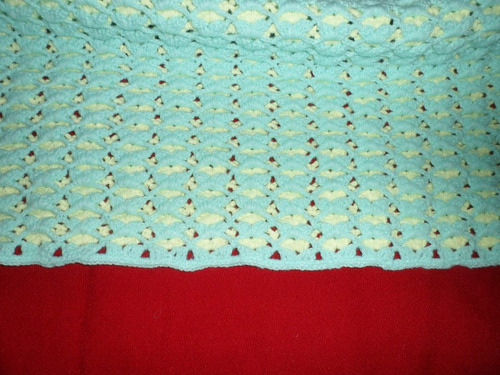 rebozo en crochet verde agua y amarillo  !!! unico !! leer