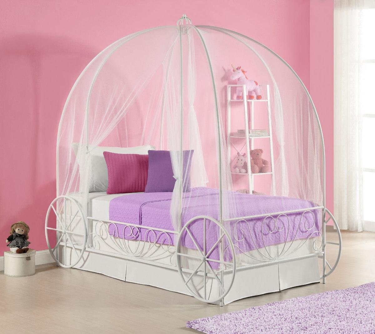 Recamara cama individual disney cenicienta carruaje ni a for Muebles para recamara de nina