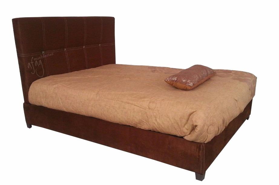 Rec mara d base y cabecera cama queen size no colchon king for Cama individual base y colchon