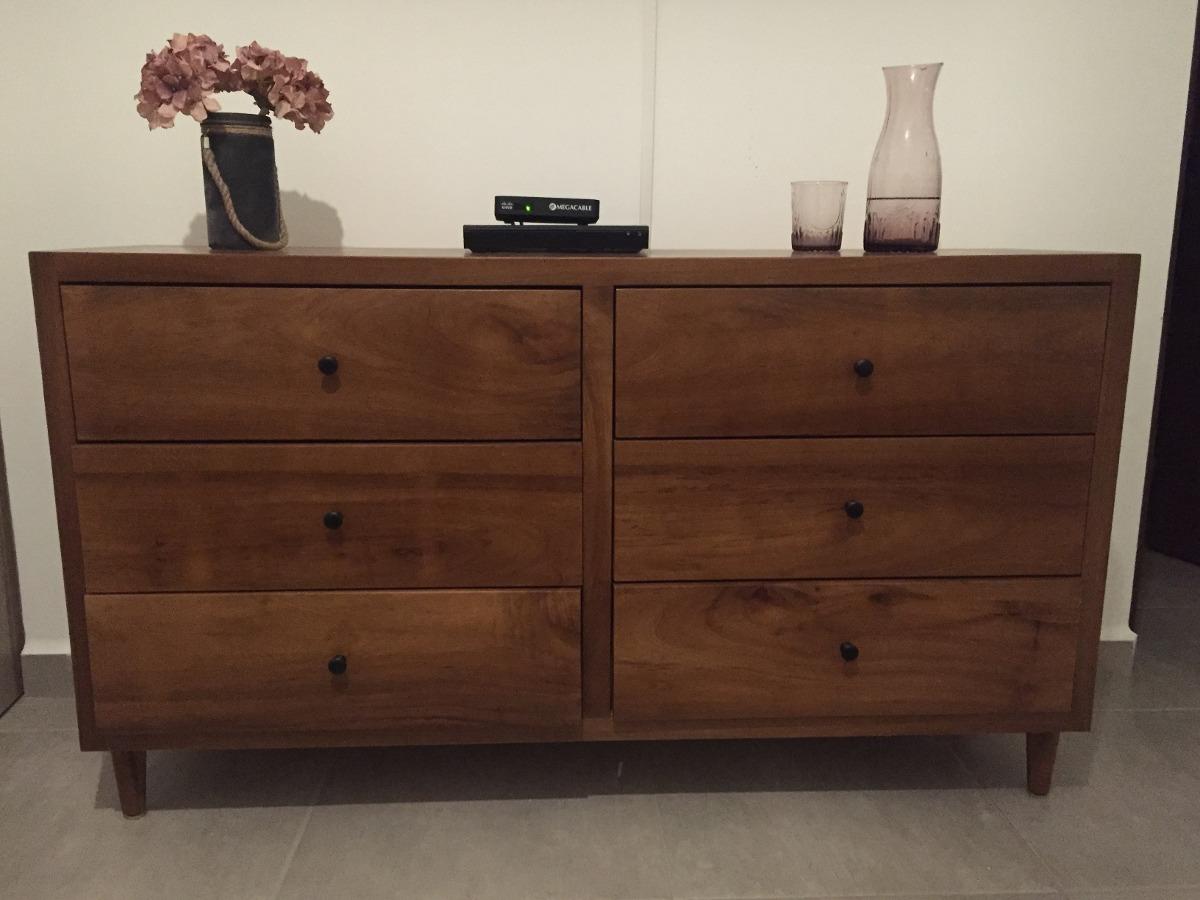 Recamara de madera de parota modernos bur s y comoda for Buros de cama modernos
