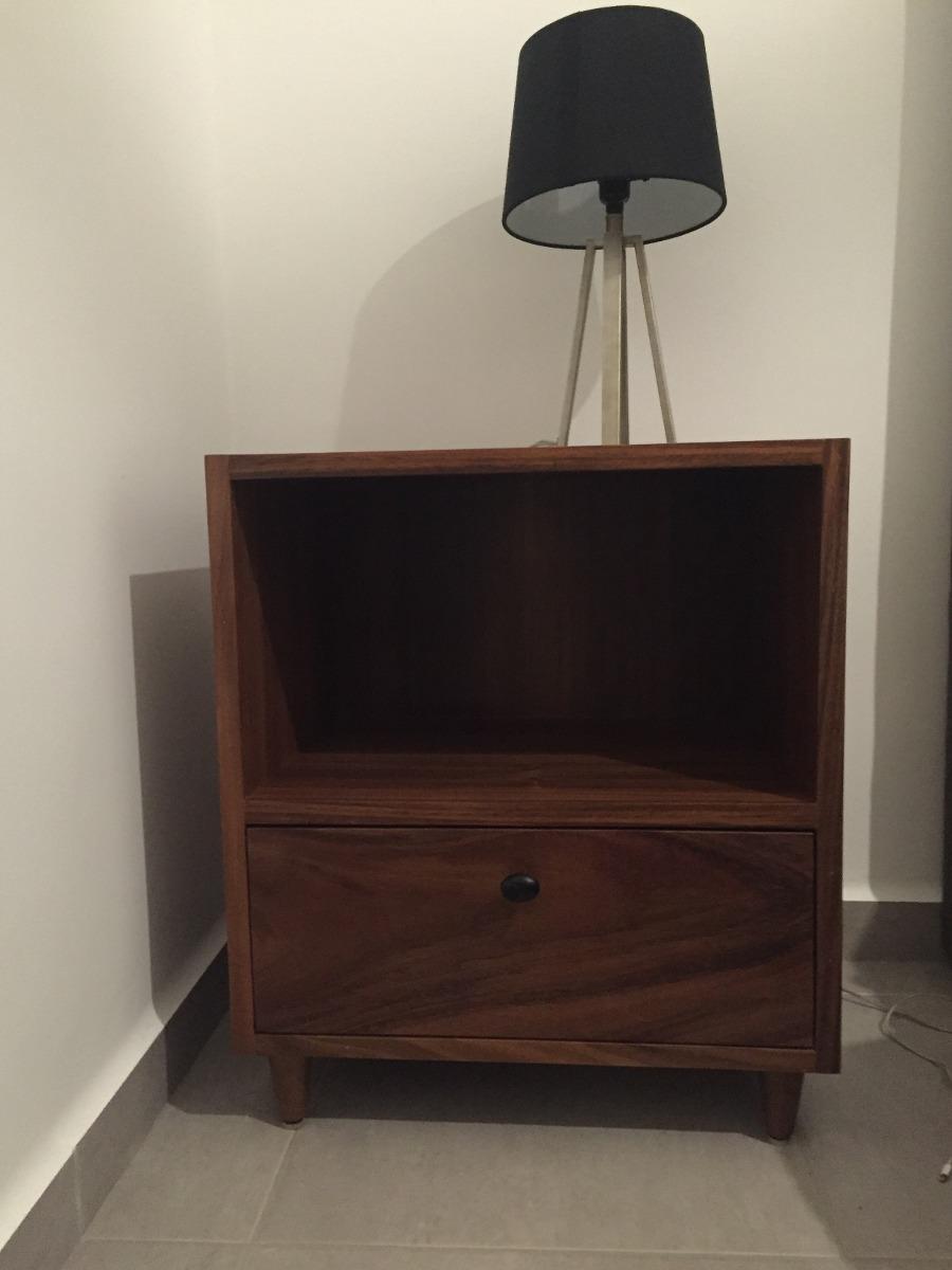 Recamara de madera de parota modernos bur s y comoda for Muebles comodas modernas