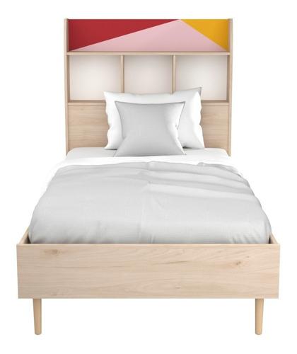 recámara individual base para cama con cabecera envío gratis