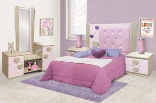 Recamara infantil juvenil rosa beige ni a matri o for Recamaras rosas