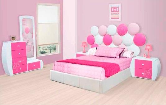 Rec mara infantil juvenil rosa fucsia blanca ni a matri o for Muebles para recamara de nina
