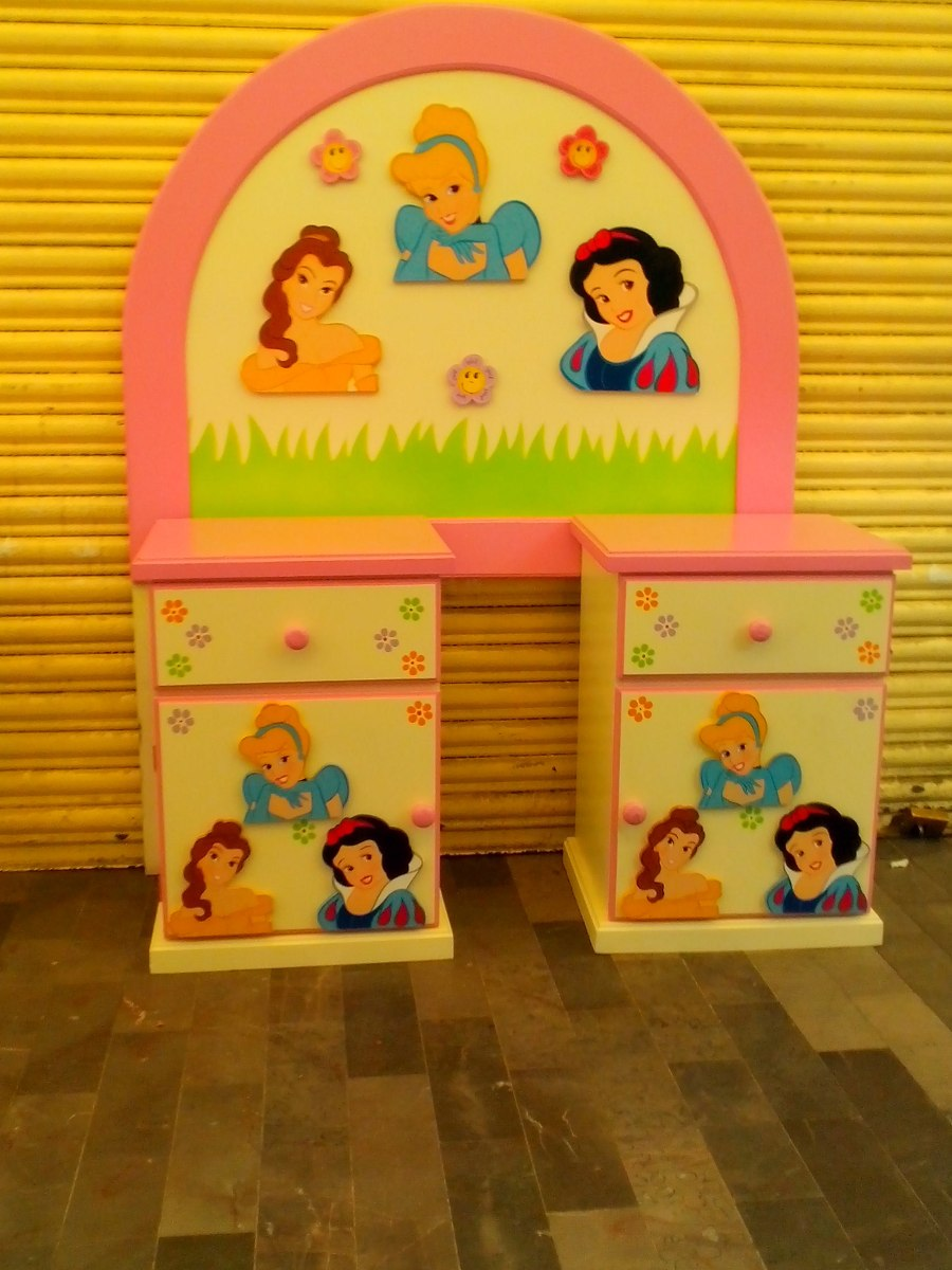 Recamara infantil ni o ni a princesa flores lagunilla for Cabecera individual infantil