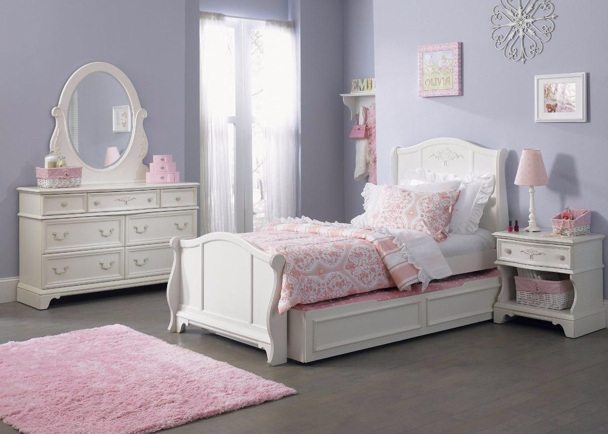 Recamara juvenil color blanco vintage modelo arielle - Decoracion habitaciones juveniles nina ...