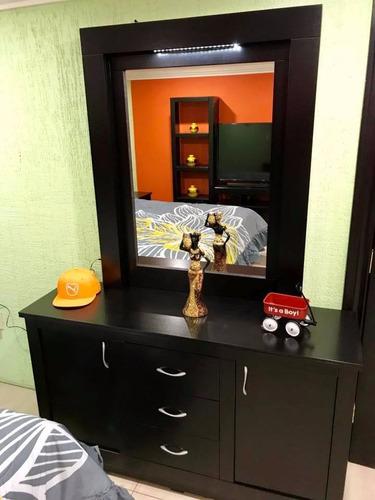 recamara king size nova mueble tocador buros cabecera