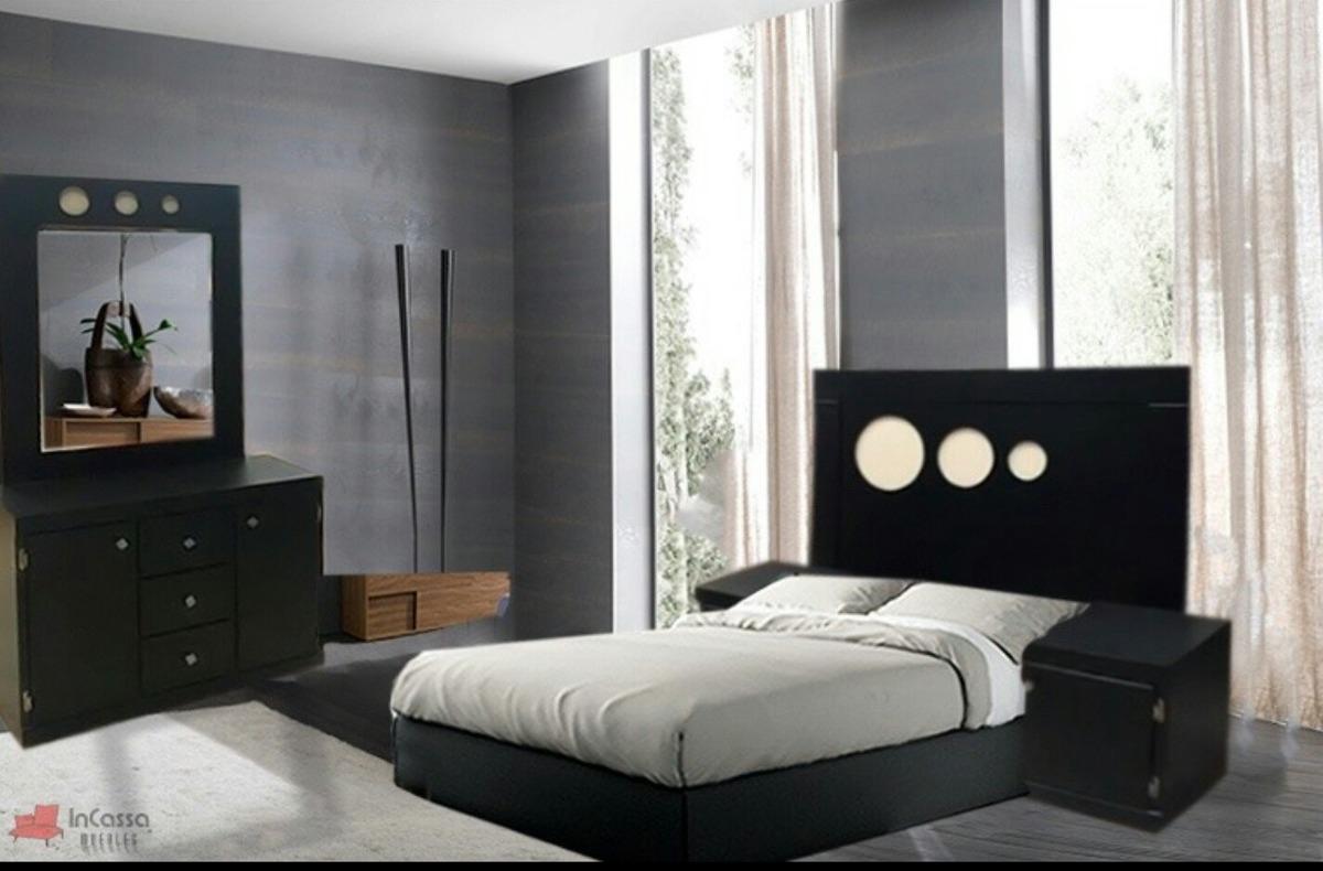 Recamara minimalista peque a economica moderna 3 490 for Recamaras de madera en monterrey