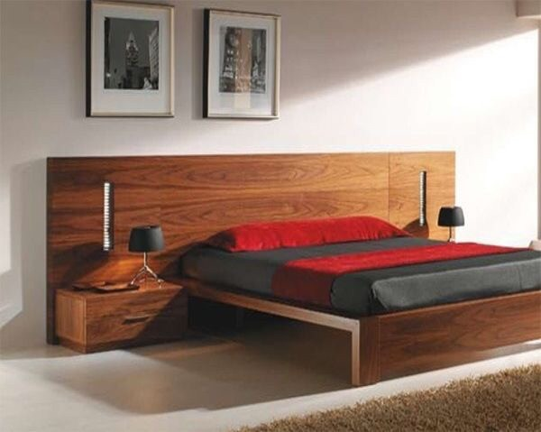 Rec mara moderna de madera 43 en mercado libre for Recamaras individuales de madera