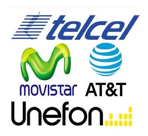 recarga $100 at&t, telcel, movistar, unefon, virgin mobile