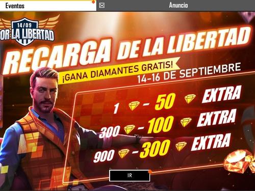 recarga 572 diamantes free fire