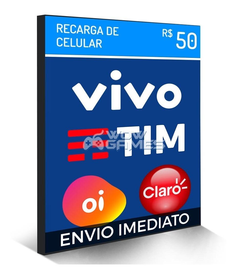 f25f1d6ed48 recarga celular crédito online oi claro vivo tim r$ 50,00. Carregando zoom.