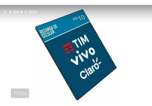 recarga celular crédito online tim claro vivo oi r$ 10,00