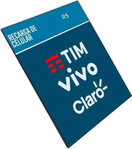 recarga celular crédito    tim  só tim r$ 20,00 promoção