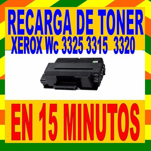 recarga de toner xerox wc 3320 106r02306 en 15 minutos