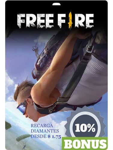 recarga diamantes free fire