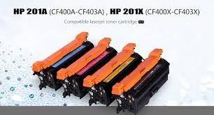 recarga hp 201a cf400bk, cf401ac, cf402ay, cf403am pro200