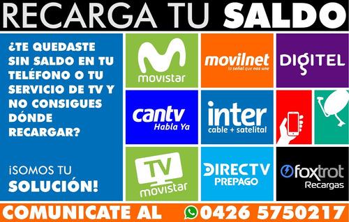 recarga movistar tv prepago y postpago