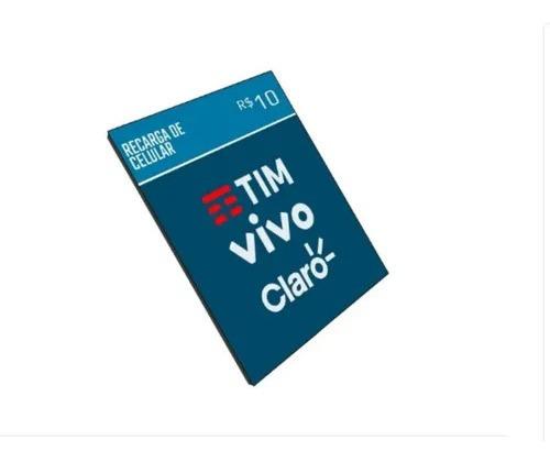 recarga online crédito celular r$10 ( oi - tim - vivo -claro