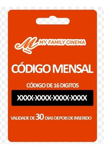 recarga trimestral my family cinema
