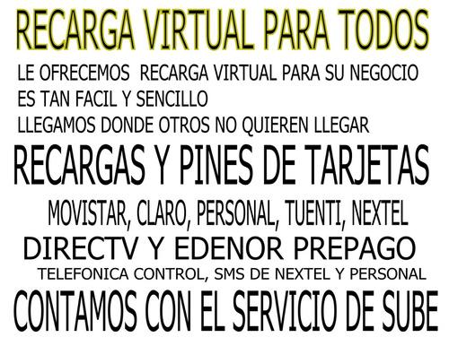 recarga virtual para todos
