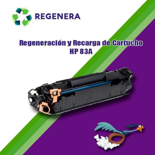 recarga y regeneración cartucho hp 83a