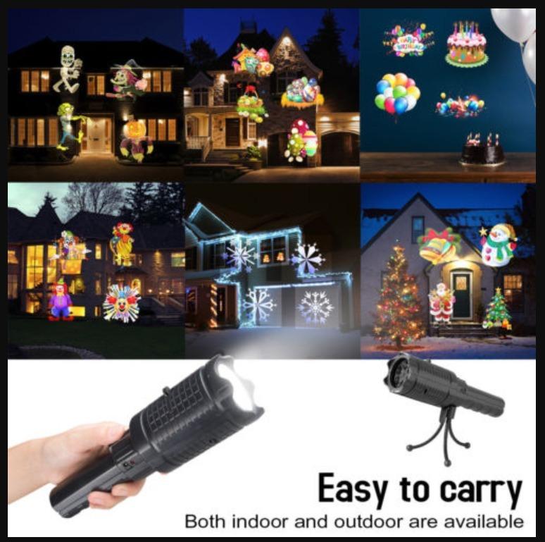 1e9c80d93e8 Recargable Lámpara Proyector Luces Navideñas Varios Temas -   395.00 ...