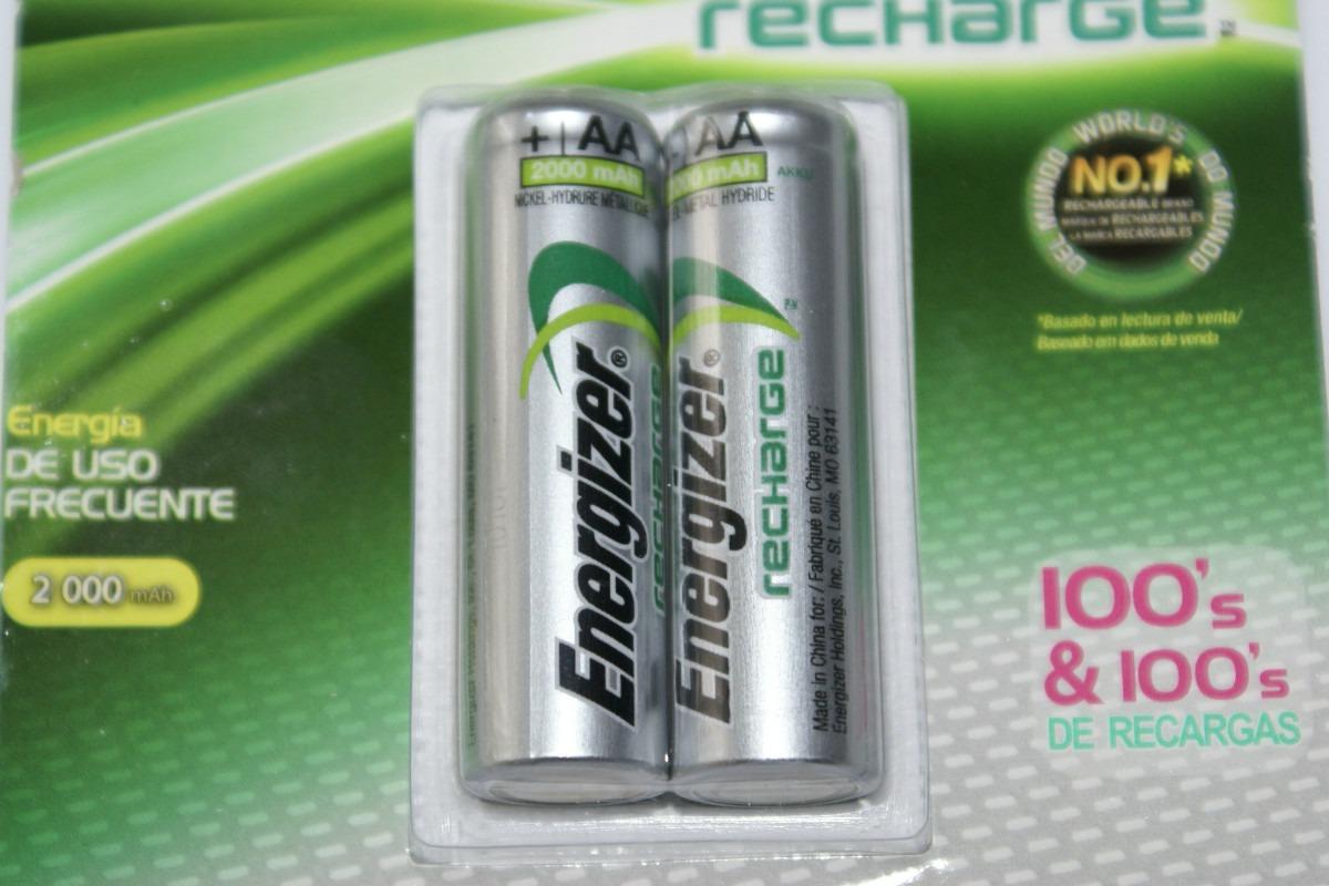 Pilas recargables aa energizer nuevas 2000 mah cc for Oferta pilas recargables
