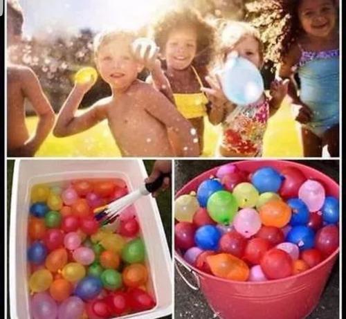 recargador bombas de agua fiesta diversión 111 globos