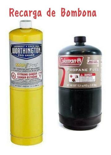 recargas de bombonas gas propano y coleman