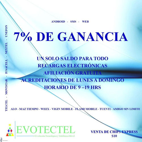 recargas electrónicas 7%
