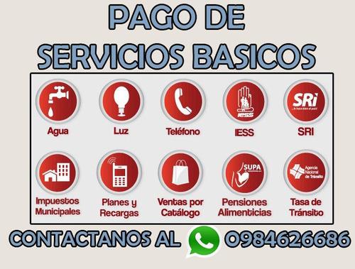 recargas electronicas, pago servicios basicos