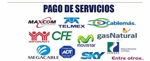 recargas electronicas y pago de servicios. 7%