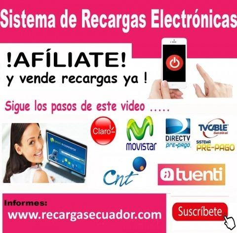 recargas electrónicas,movi,claro,cnt,dtv,pagos servicios,etc