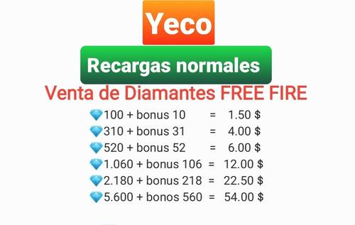 recargas free fire 100% confiables