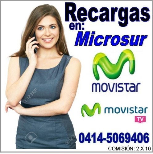 recargas movistar, digitel, movilnet, cantv y tv