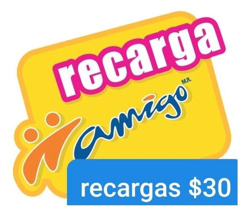 recargas o paquete 30 pesos todas las compañías.
