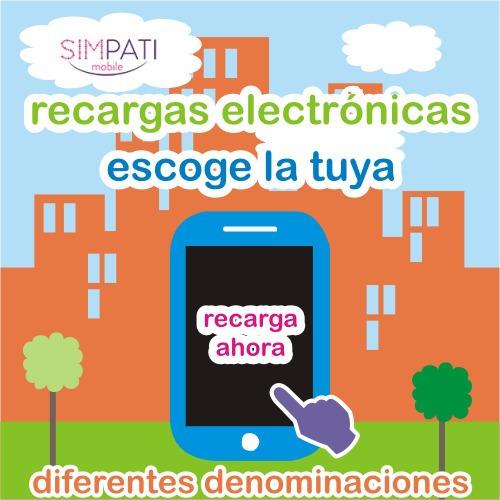 recargas simpati mobile $20.00