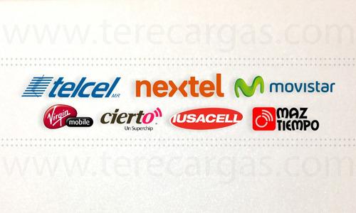 recargas telefónicas electrónicas + pago de servicios