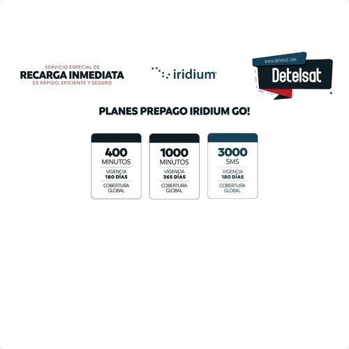 recargas teléfono satelital iridium, inmarsat y globalstar