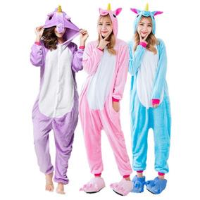 099f41e57893d6 Receba Rápido ! Pijama Kigurumi Fantasia Unicórnio Cosplay