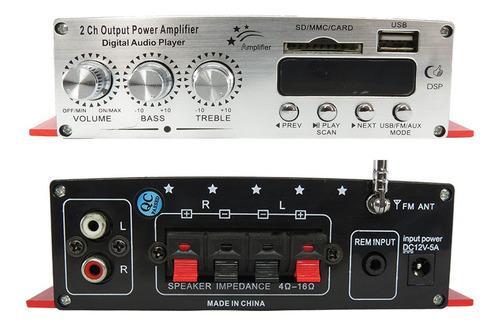 receiver amplificador potencia 2 canais casa som ambiente