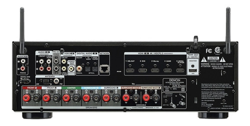 receiver denon avr-s740h s740 7.2 4k garantia 1 ano nfe