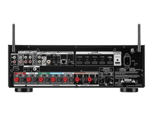 receiver denon avr-x1600h x1600 7.2 4k garantia de 1 ano nfe