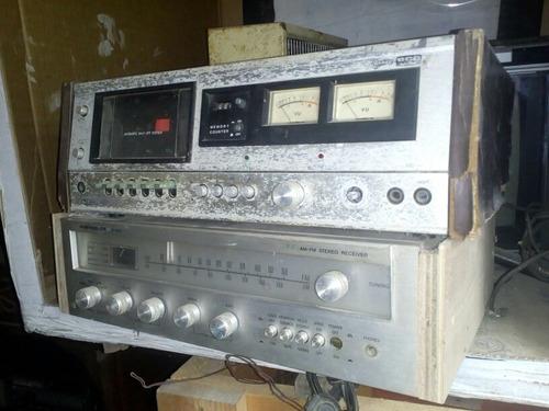 receiver e tape deck